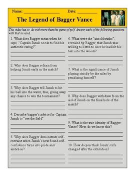 Legend of Bagger Vance Test