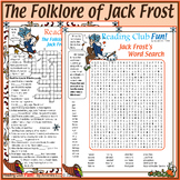 Legend of Jack Frost Set - Crossword Puzzle, Word Search, and Writing Paper