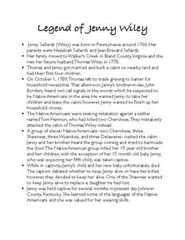 Legend of Jenny Wiley Activities