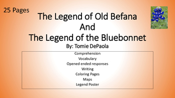 Legend of Old Befana and Legend of Bluebonnet Picture Books