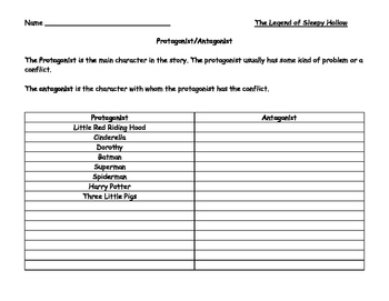 Legend of Sleepy Hollow Literature Study Grades 5 - 8