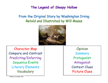 Legend of Sleepy Hollow Literature Study Grades 5 - 8