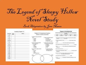 The Legend of Sleepy Hollow Novel Study- Jane Mason adaptation