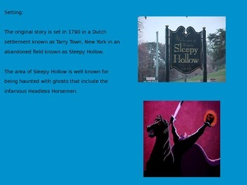 Legend of Sleepy Hollow - Power Point - History Facts Information Pictures