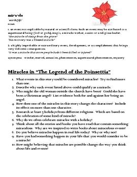 Legend of The Poinsettia - Focus Questions