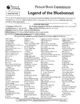 Legend of the Bluebonnet Literature Guide