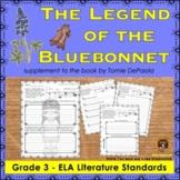 Legend of the Bluebonnet Literature Standards Support Worksheets
