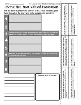 Legend of the Bluebonnet - Sequencing / Retelling