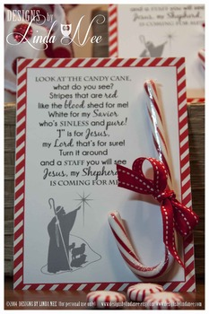 Legend of the Candy Cane - Card for Witnessing at Christmas - Christian