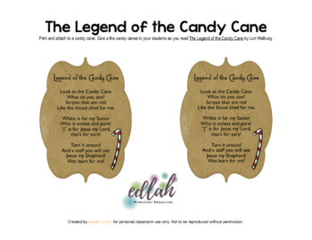 Legend of the Candy Cane Tags