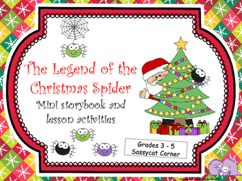 graphic about Legend of the Christmas Spider Printable titled Xmas ELA - Legend of the Xmas Spider Tale Pursuits