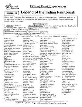 Legend of the Indian Paintbrush Literature Guide