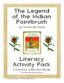 The Legend of the Indian Paintbrush- COMMON CORE Literacy Pack