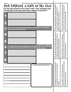 Legend of the Indian Paintbrush - Sequencing / Retelling