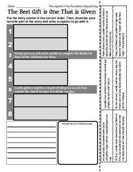 Legend of the Pionsettia - Sequencing / Retelling