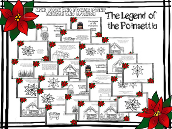 Legend of the Poinsettia - Mini Book and Power Point - English and Spanish