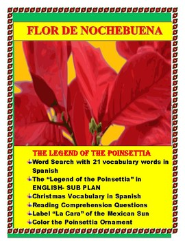 The Legend Of The Poinsettia Spanish Worksheets Teaching Resources Tpt
