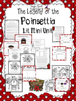 Legend of the Poinsettia Set - Lit Unit - Mini Books-PowerPoints - Eng & Spanish