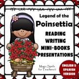 Legend of the Poinsettia Set - Literature Unit, Mini Books, PPts - ENG & SPANISH