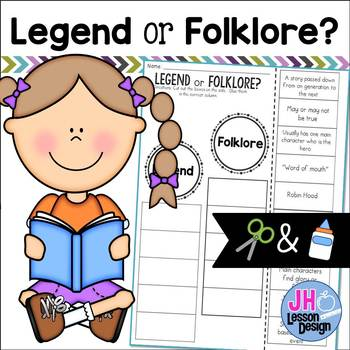 Legend or Folklore? Cut and Paste Sorting Activity
