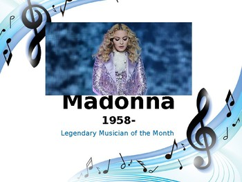 Legendary Musician of the Month: Madonna