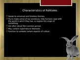 Legends, Folklore, and More Powerpoint and Assignment