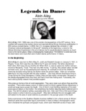 Legends in Dance -Alvin Ailey - NEW