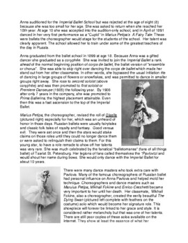 Legends in Dance - Anna Pavlova NEW