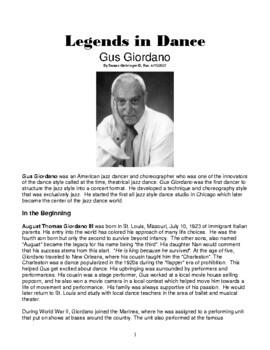 Legends in Dance -Gus Giordano - NEW