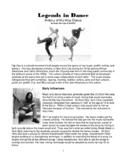 Legends in Dance - History of American Hip-Hop Dance