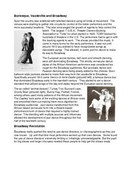 Legends in Dance  History of American Jazz Dance Genre - UPDATED
