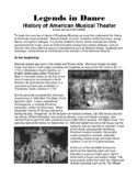 Legends in Dance  History of American Musical Theater
