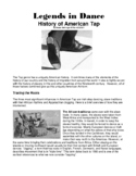 Legends in Dance - History of American Tap Dance NEW