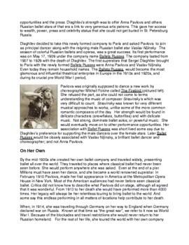 Legends in Dance - History of Ballet Bundle - 5 packets!!