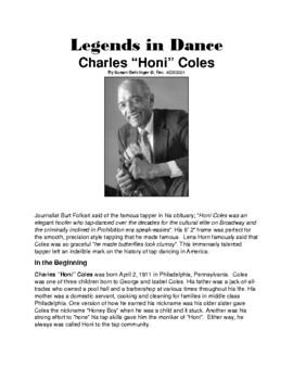 Legends in Dance -Honi Coles - UPDATED