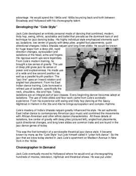 Legends in Dance -Jack Cole -UPDATED