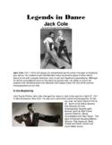 Legends in Dance -Jack Cole -UPDATED