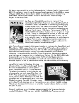 Legends in Dance -Jerry Mitchell -UPDATED