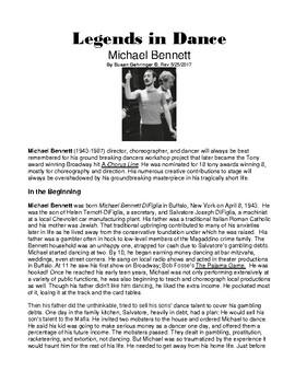 Legends in Dance - Michael Bennett