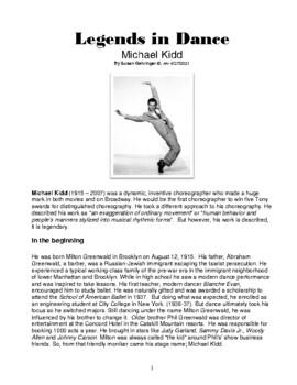 Legends in Dance -Michael Kidd - NEW