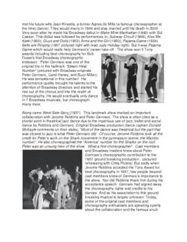 Legends in Dance -Peter Gennaro - UPDATED