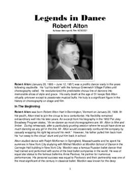 Legends in Dance - Robert Alton