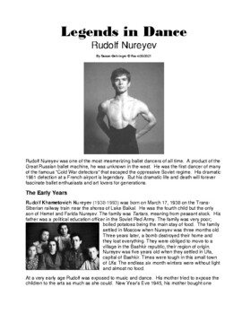 Legends in Dance - Rudolf Nureyev