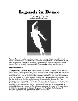 Legends in Dance -Tommy Tune UPDATED