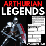 Arthurian Legends Unit   King Arthur   Knights and Chivalry   Activities