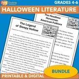 The Headless Horseman - Halloween Reading Activities for 4