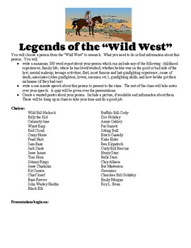 Legends of the Wild West Project