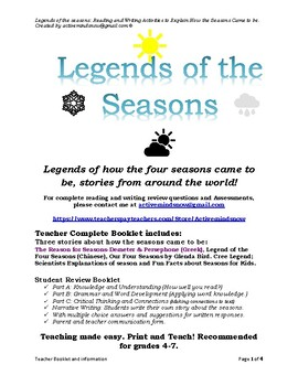 Legends of the seasons (How the seasons came to be?)