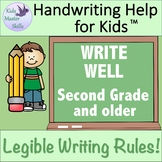Legible Handwriting Rules WRITE WELL Workbook - Second Grade Handwriting