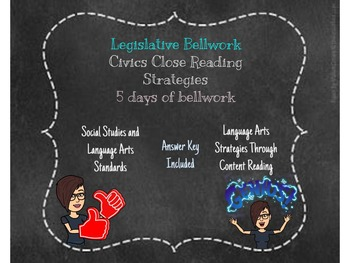 Legislative Bellwork with Current Event SS.7.C.3.8